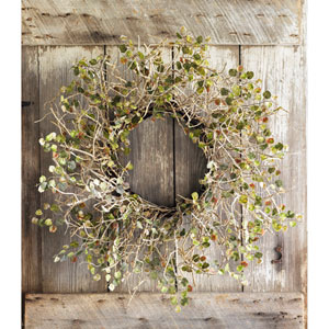 Ivory and Olive Birch Branch Wreath with Mini Leaves