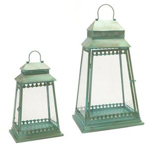 Teal Lantern, Set of Two