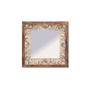 Natural and Gray Butterfly Wall Mirror