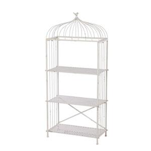 White Three Tier Shelf and Rack