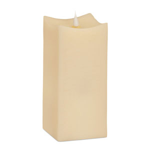 Ivory Simplux Squared Moving Flame Candle with Remote