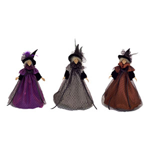 Black and White Witch, Set of Three
