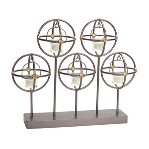 Black and Gold Candle Holder Table Piece