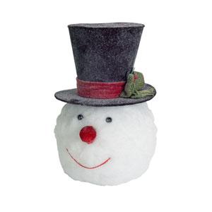 Black and White Snowman Head