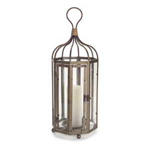 Antique Gray Open Lantern