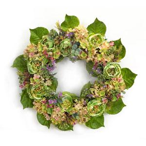 Hydrangea and Peony Wreath