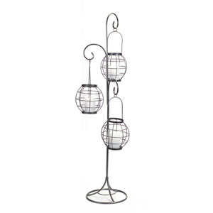 Three Hanging Candle Holders on Stand