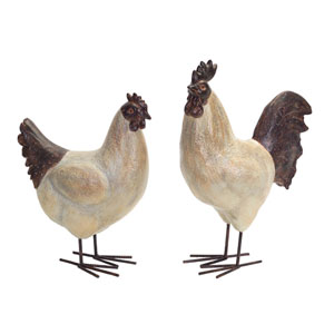 Rooster and Hen, Set of Two