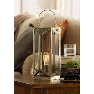 Silver and Gray Tabletop Lamp