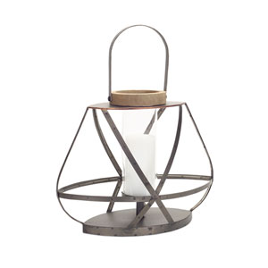 Open Lantern with Glass