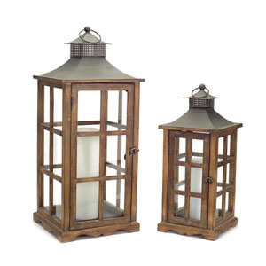 Brown and Gray Lanterns, Set of Two
