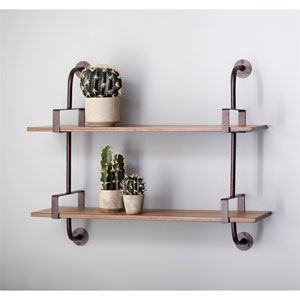Double Shelf Wall Rack