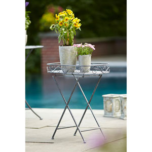Gray Folding Stand Tray