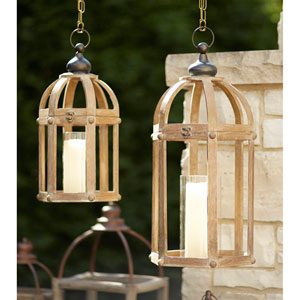Brown Lanterns, Set of Two