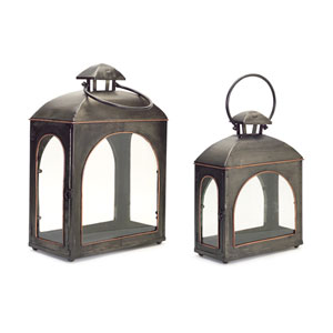 Black and Gold Lanterns, Set of Two