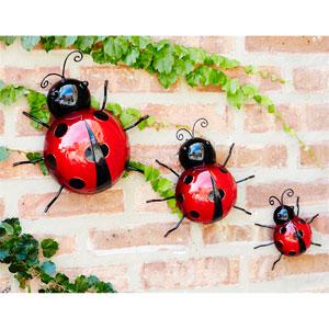 Wall Mountable Ladybugs, Set of Six