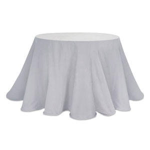 Gray Round Table Cloth