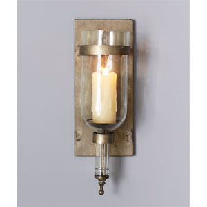 Gray Wall Sconce, Set of Two
