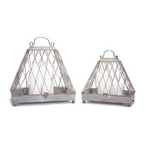 Hinge Top Lanterns, Set of Two