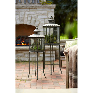 Lanterns with Stand, Set of Two