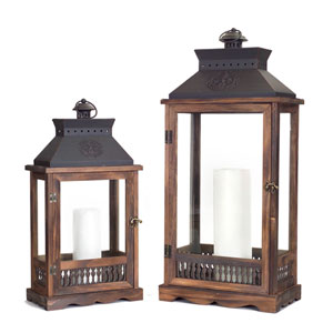 Brown and Black Lanterns, Set of Two