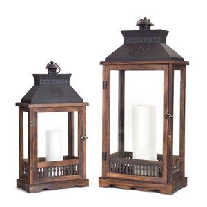 Brown and Black Lanterns, Set of Two