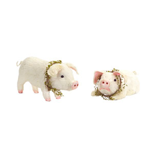 Pig Figurine, Set of Two