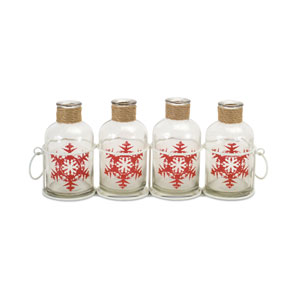 Holiday Bottles with Carrier, Set of Two