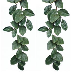 Magnolia Leaf 5 Ft. Garland, Set of Two