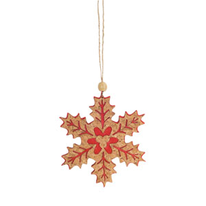 Red Snowflake Ornament, Set of Twenty Four