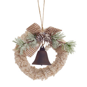 Wreath with Bell Ornament, Set of Twelve