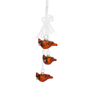 Cardinal Bundle Ornament, Set of Twelve
