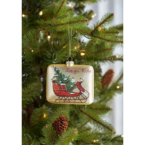 Sleigh Ride Ornament, Set of Six