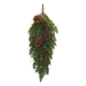 Pine with Cone Swag, Set of Two