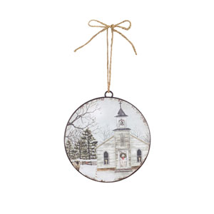 Church Disc Ornament, Set of Twelve