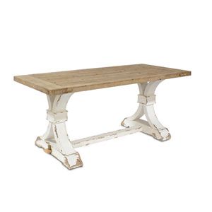 Brown and White 30 In. H Rectangle Table