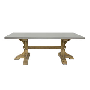 Gray and Brown 78 x 30 In. Rectangle Table
