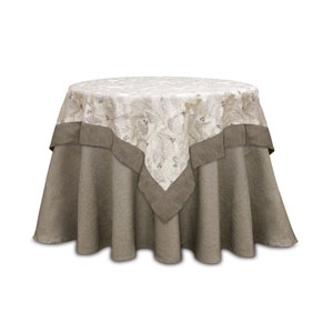 Taupe Pinecone Table Topper