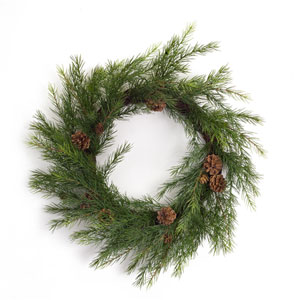 Pine 22 In. Wreath, Set of Two