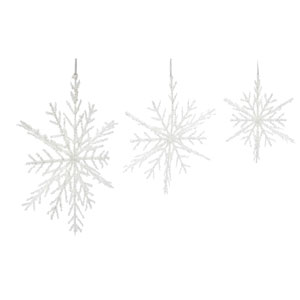 Snowflake Ornaments, Set of Six