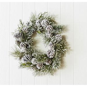 Snowy Pine 24 In. Wreath