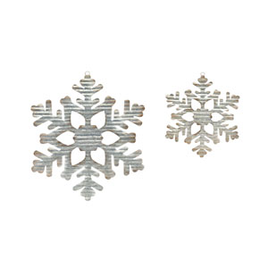 Galvanized Snowflake, Set of Four