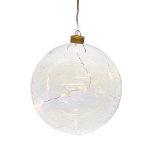 Ball Ornament with LED Light, Set of Six