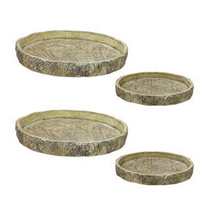 Tree Trunk Tray, Set of Four