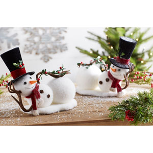 Lounging Snowman, Set of Two
