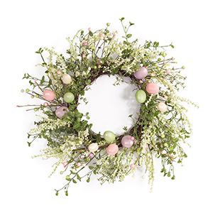 Multicolor Egg and Berry Wreath
