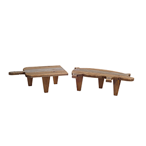Brown Pig Cutting Board Stool, Set of 4