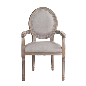 Grey 39-Inch Captains Chair, Set of 2