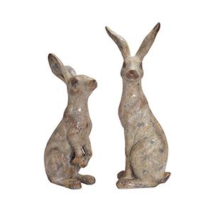 Grey Rabbit, Set of 2
