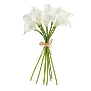 White Calla Lily Bouquet, Set of 6